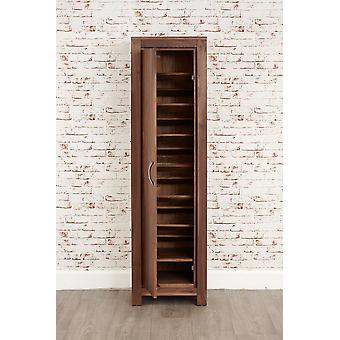 Mayan Walnut Tall Shoe Cupboard Brown - Baumhaus