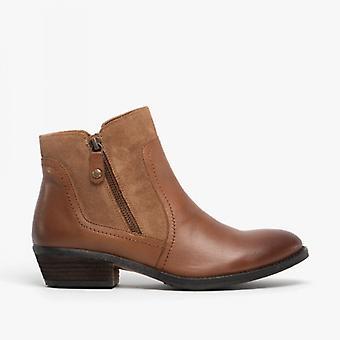 هش الجراء Isla السيدات جلد الغزال الكاحل الأحذية تان
