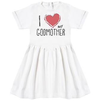 I Love My GodMother Red Heart Baby Dress
