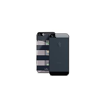 Puro Shell Black Stripes For Apple iPhone 5/5s