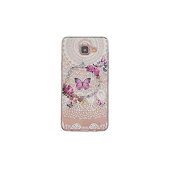 Coque Pour Samsung Galaxy A3 (2016) Transparente Souple Motif Fleurs Et Papillons