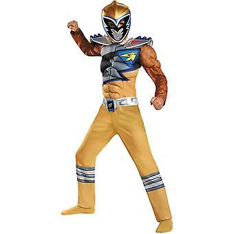 Dino guld Ranger muskel barn kostym
