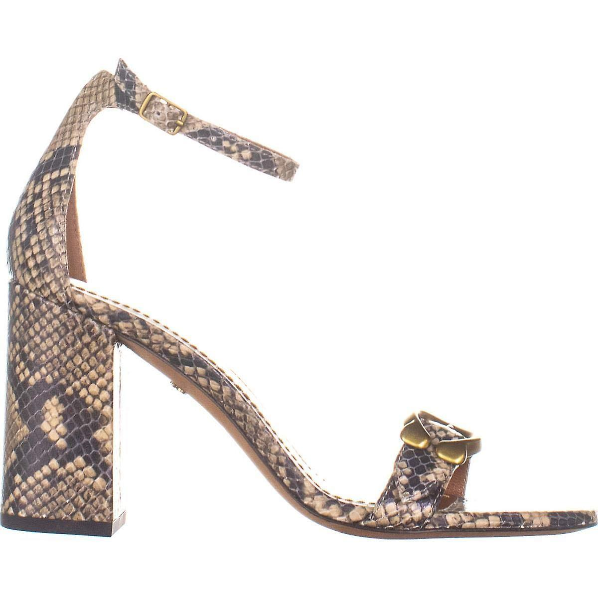 Coach Womens Maya 85 Leather Snake Print Heel Sandals CcHMr7