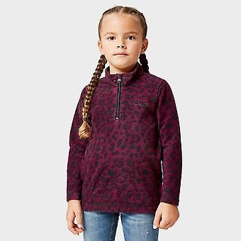 New Regatta Girls' Cerona Half Zip Fleece Purple