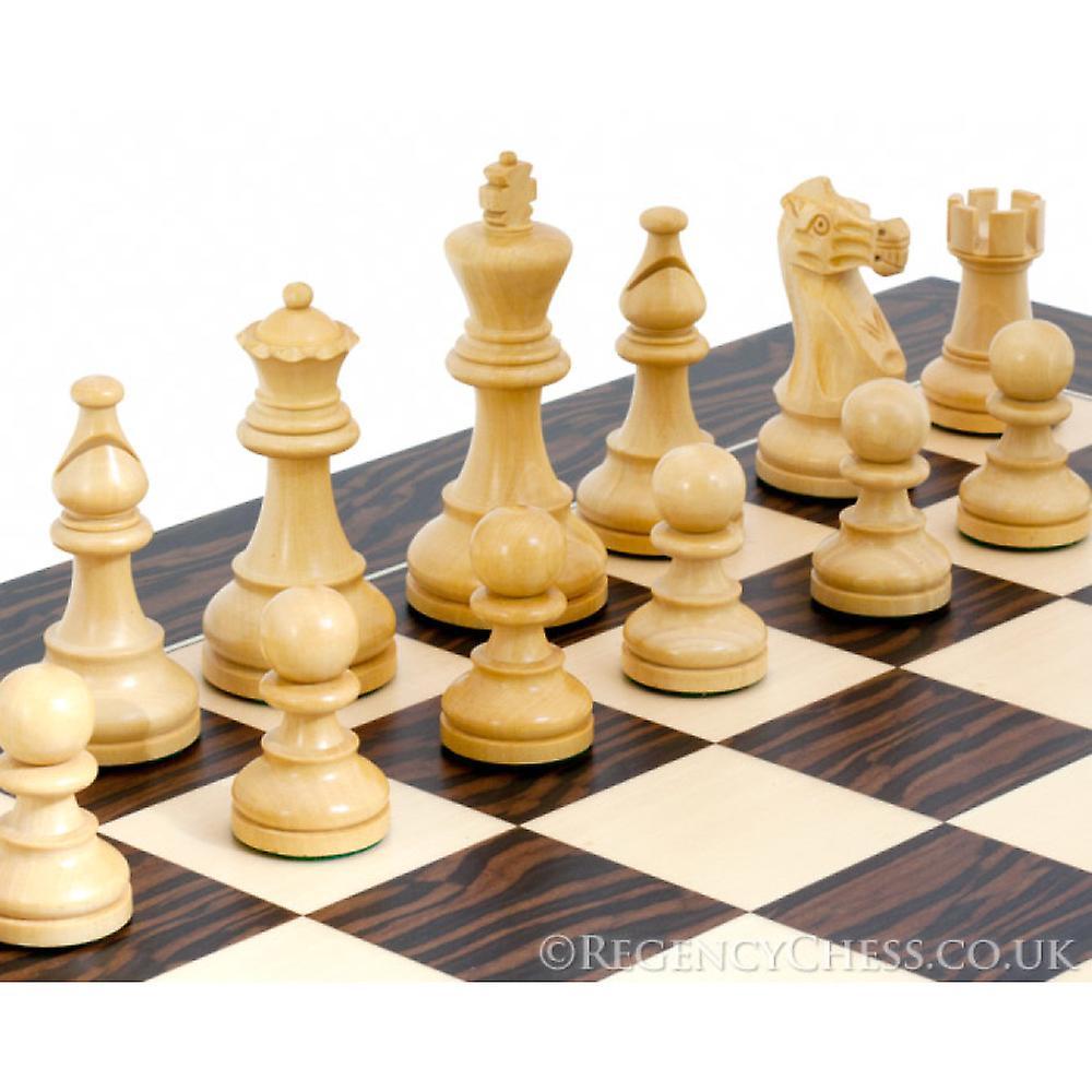 American Sheesham and Tiger Ebony Staunton Chess Set