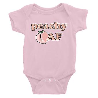 365 Printing Peachy AF Baby Bodysuit Gift Pink Baby Boy Birthday Baby Jumpsuit