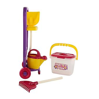Polesie Kinder Gartentrolley 57 cm 38517 with shovel, rake, bucket, watering can