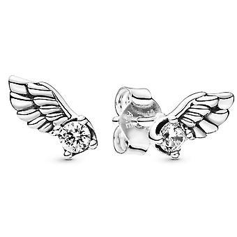 Boucles d'oreilles Pandora 298501C01 - Clous d'Oreilles Ailes d'Ange Scintillantes Argent