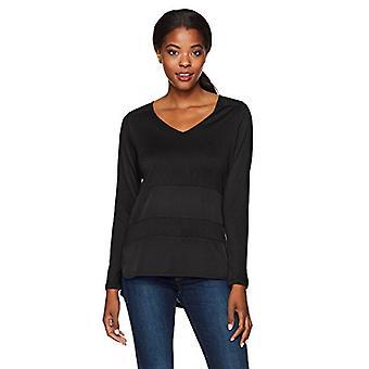 القبلية المرأة & أبوس؛ ق L/ s V-الرقبة الأعلى، أسود، M، أسود، حجم المتوسطة