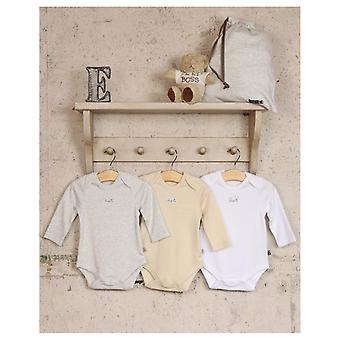 The Essential One Unisex 3 Pack Neutral Long Sleeve Bodies