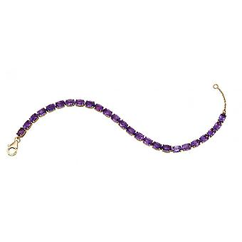 Joshua James Precious 9ct Yellow Gold & Amethyst Tennis Bracelet