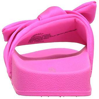 Steve Madden Girls' JSILKY Slide Sandal, hot Pink, 12 M US Little Kid