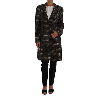 Dolce & Gabbana Brown Wool Tweed Single Breasted Jacket
