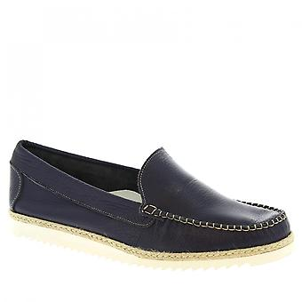 Leonardo Shoes Men-apos;s chaussures de mocassins en cuir de veau bleu