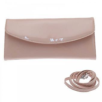 Peter Kaiser Rosa Patent Liv Fold Over Clutch Bag