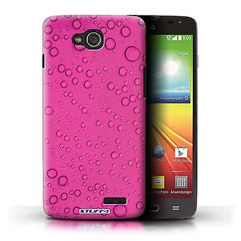 STUFF4 Case/Cover for LG L90 Dual/D410/Pink/Water Droplets