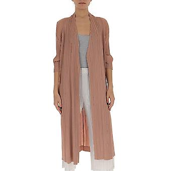 Issey Miyake Pleats Please Pp06ja16420 Women's Nude Cotton Coat
