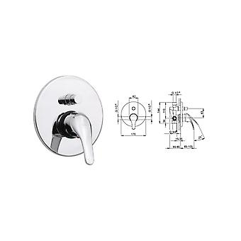 In recessed Shower Tank Mixer With Huber Diverter