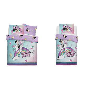 Minnie mouse unicorno sogni Duvet Set