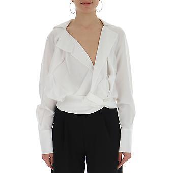 Jacquemus 191sh0119132110 Women's White Silk Shirt