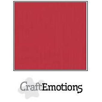 CraftEmotions linnen karton 10 Sh kersenrood 30,0x30,0cm / LC-30