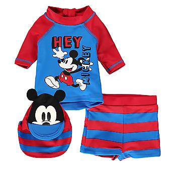 Disney Kids 3 Piece Swim Set Baby Swimming Water Pool Beach Swimwear Bottoms Top