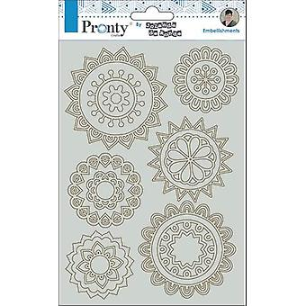 Pronty Crafts Mandala Mini-apos;s A5 Chipboard