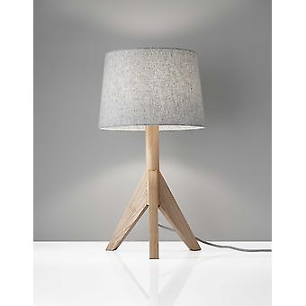 "12.5"" X 12.5"" X 24.5"" Natural Wood Table Lamp"