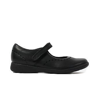 Clarks Etch Craft Niños Negro Cuero Niñas Rip Cinta Mary Jane Brogue Zapatos Escolares