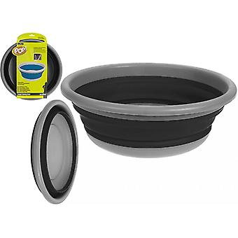 Summit Pop! 7L Collapsible Large Round Bowl Black/Grey