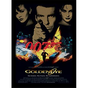 James Bond 007 Goldeneye One Sheet Framed Plate 30-40cm