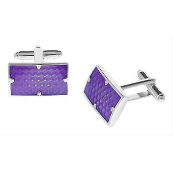 Duncan Walton Combe Enamel Cufflinks - Purple