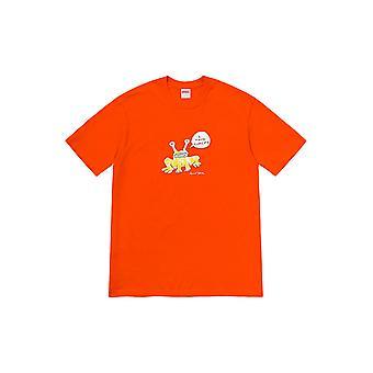 Supreme Daniel Johnston Frog Tee Orange - Clothing