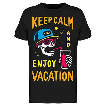 Keep Calm And Enjoy Vacation Tee Men's -Image by Shutterstock