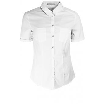 Bianca White Short Sleeved Blouse