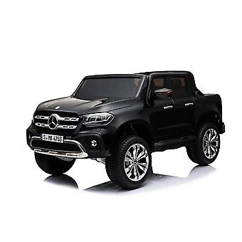Licensed Mercedes-Benz X Class 12V Kids Electric Ride On Car Two Seater - Black