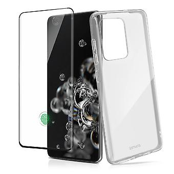 Back case + Screen Protector Tempered Glass Clear Galaxy S20 ultra – 4smarts