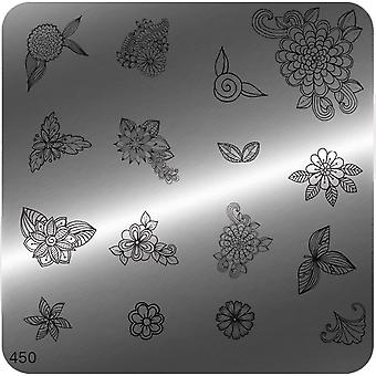 MoYou Square Stamping Nail Art Image Plate - 450