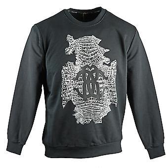 Roberto Cavalli Snake Hud Logo Svart Sweatshirt