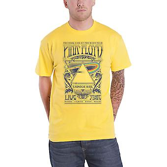 Pink Floyd T Shirt Carnegie Hall Poster Band Logo new Official Mens Yellow