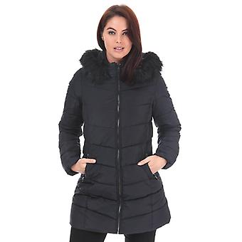 Women's Only Minea Quilted Hooded Coat in Blue