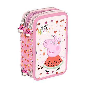 Peppa Pig Greta Gris 40-parte Pencil Box Tripla matita Set scuola