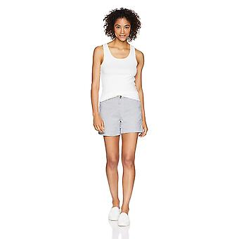 "Essentials Women's 5"" Inseam Patterned Chino Short, Blue Stripe, Størrelse 2.0"