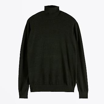 Scotch & Soda  - Classic Turtleneck Knit - Dark Green