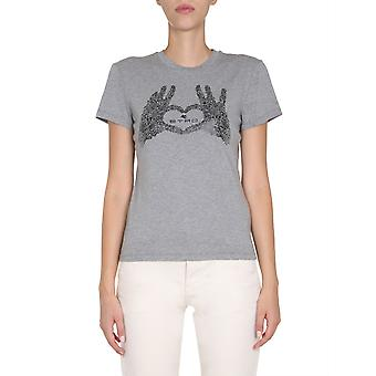 Etro 192429079002 Naisten's Grey Cotton T-paita