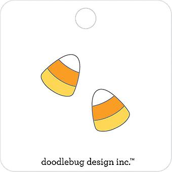 Doodlebug Collectible Émail Pin 2/Pkg-Candy Corn, Candy Carnival