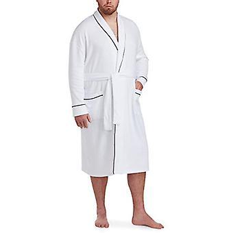 Essentials Men's Big & Tall Lightweight Shawl Robe Sleepwear, -White, ...