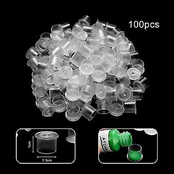 Small Plastic Tattoo Ink Cups For Permanent Tattoo Holder / Container - Caps Disposable