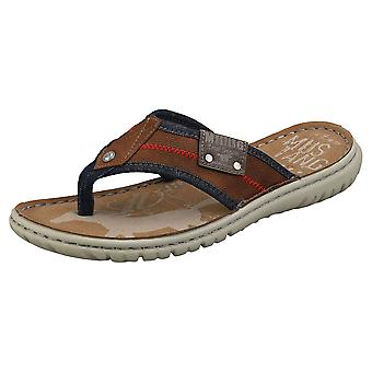 Mustang Single Strap Mens Walking Sandals em Conhaque