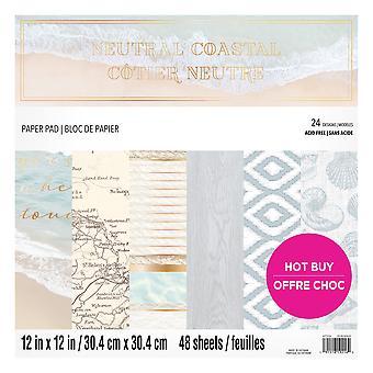 Craft Smith Neuteral Coastal 12x12 Inch Paper Pad